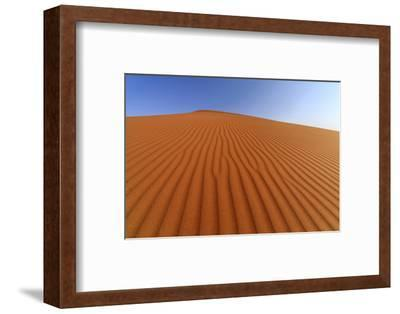 The Shapes of Sand Constantly Shaped by the Wind, Sossusvlei, Namib Naukluft National Park-Roberto Moiola-Framed Photographic Print