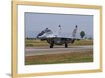 A Bulgarian Air Force Mig-29Ub Fulcrum Taxiing-Stocktrek Images-Framed Photographic Print