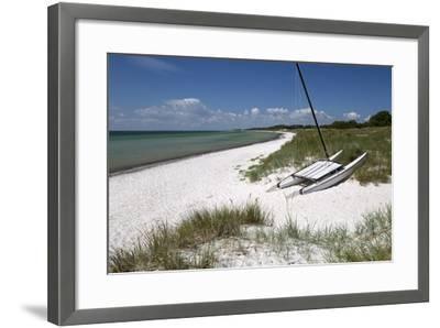 White Sand Beach and Sand Dunes, Skanor Falsterbo, Falsterbo Peninsula, Skane, South Sweden, Sweden-Stuart Black-Framed Photographic Print