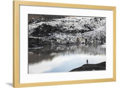 Exploring Solheimajokull Glacier, South Iceland (Sudurland), Iceland, Polar Regions-Matthew Williams-Ellis-Framed Photographic Print