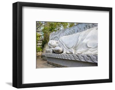 Reclining Buddha at Long Son Pagoda (Chua Long Son) Buddhist Temple, Khanh Hoa Province, Vietnam-Jason Langley-Framed Photographic Print