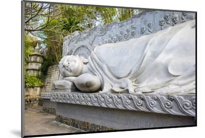 Reclining Buddha at Long Son Pagoda (Chua Long Son) Buddhist Temple, Khanh Hoa Province, Vietnam-Jason Langley-Mounted Photographic Print
