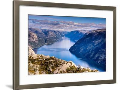 Pulpit Rock, Lysefjord View, Stavanger, Norway, Scandinavia, Europe-Jim Nix-Framed Photographic Print