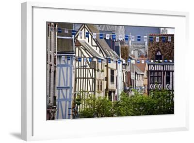 Half Timbered Norman Facades, Rouen, Normandy, France, Europe-Guy Thouvenin-Framed Photographic Print
