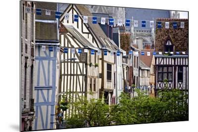 Half Timbered Norman Facades, Rouen, Normandy, France, Europe-Guy Thouvenin-Mounted Photographic Print