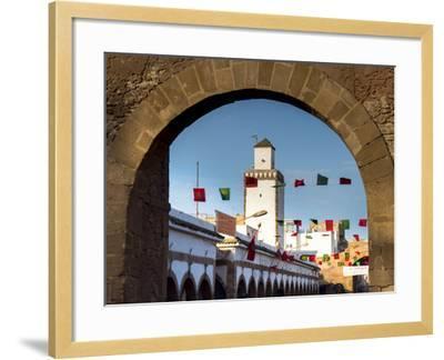 Medina Street Scene, Essaouira, Morocco, North Africa, Africa-Charles Bowman-Framed Photographic Print