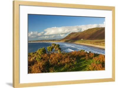 Rhossili Bay, Gower, Wales, United Kingdom, Europe-Billy Stock-Framed Photographic Print