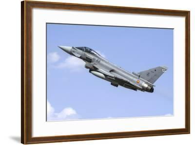 A Spanish Air Force Ef-2000 Typhoon Taking Off-Stocktrek Images-Framed Photographic Print