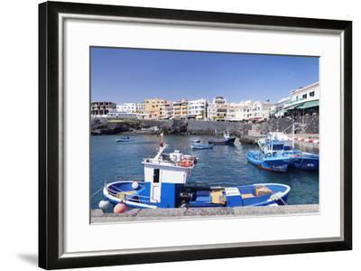 Fishing Boats at the Port, Los Abrigos, Tenerife, Canary Islands, Spain, Atlantic, Europe-Markus Lange-Framed Photographic Print