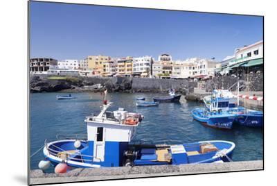 Fishing Boats at the Port, Los Abrigos, Tenerife, Canary Islands, Spain, Atlantic, Europe-Markus Lange-Mounted Photographic Print