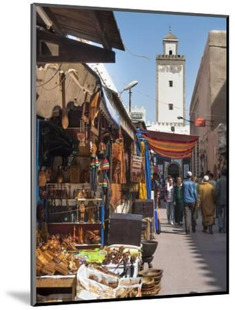 Grand Mosque and Street Scene in the Medina, Essaouira, Morocco, North Africa, Africa-Charles Bowman-Mounted Photographic Print