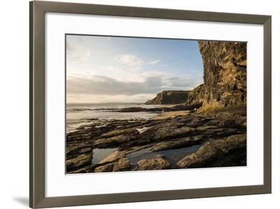Druidston Haven Beach at Dusk, Pembrokeshire Coast National Park, Wales, United Kingdom, Europe-Ben Pipe-Framed Photographic Print