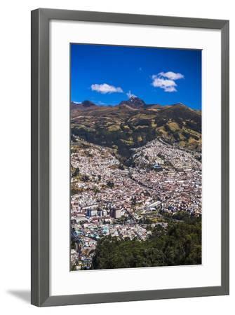 Quito, with Pichincha Volcano in the Background, Ecuador, South America-Matthew Williams-Ellis-Framed Photographic Print