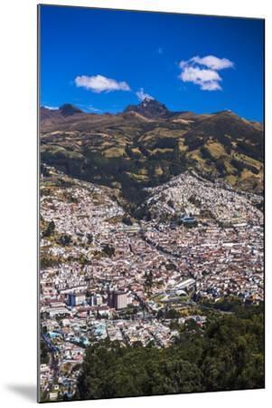 Quito, with Pichincha Volcano in the Background, Ecuador, South America-Matthew Williams-Ellis-Mounted Photographic Print