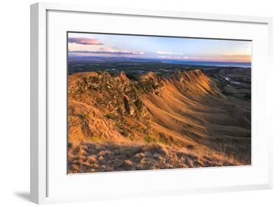 Te Mata Peak at Sunrise, Hastings Near Napier, Hawkes Bay Region, North Island, New Zealand-Matthew Williams-Ellis-Framed Photographic Print