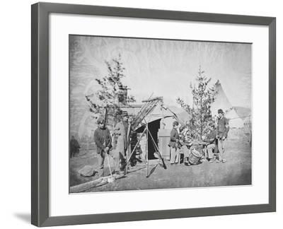 Camp Scene During the American Civil War-Stocktrek Images-Framed Photographic Print