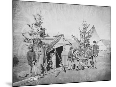 Camp Scene During the American Civil War-Stocktrek Images-Mounted Photographic Print