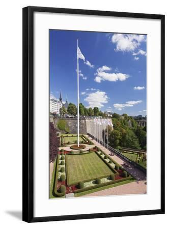 Place De La Constitution, Luxembourg City, Grand Duchy of Luxembourg, Europe-Markus Lange-Framed Photographic Print