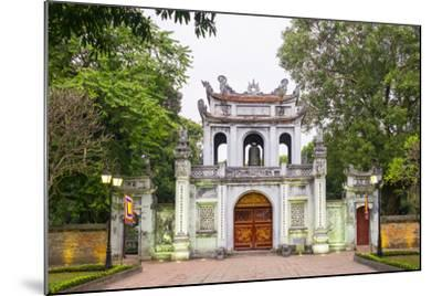 Temple of Literature Gate at Dusk, Dong Da District, Hanoi, Vietnam, Indochina, Southeast Asia-Jason Langley-Mounted Photographic Print