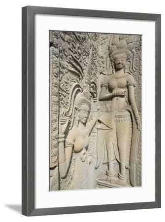 Hindu Statues on the Outer Wall of Angkor Wat, Siem Reap, Cambodia, Southeast Asia-Alex Robinson-Framed Photographic Print