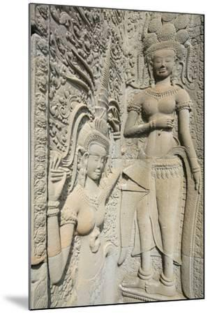 Hindu Statues on the Outer Wall of Angkor Wat, Siem Reap, Cambodia, Southeast Asia-Alex Robinson-Mounted Photographic Print