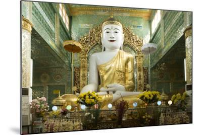 Buddha Inside a Temple on Sagaing Hill, Sagaing, Myanmar (Burma), Southeast Asia-Alex Robinson-Mounted Photographic Print