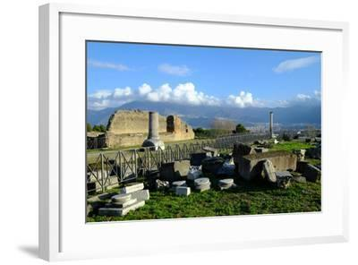 Venus Temple, Pompeii, the Ancient Roman Town Near Naples, Campania, Italy-Carlo Morucchio-Framed Photographic Print