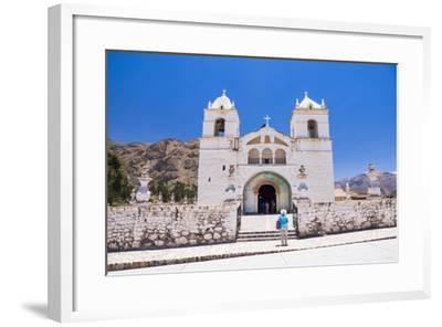 Iglesia De Santa Ana De Maca, a Church in Maca, Colca Canyon, Peru, South America-Matthew Williams-Ellis-Framed Photographic Print