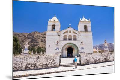 Iglesia De Santa Ana De Maca, a Church in Maca, Colca Canyon, Peru, South America-Matthew Williams-Ellis-Mounted Photographic Print