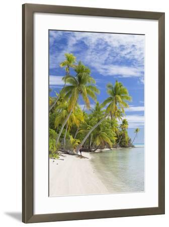 Couple on Beach at Les Sables Roses (Pink Sands), French Polynesia-Ian Trower-Framed Photographic Print