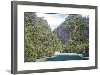 Rugged Limestone Islands Surround Corals Growing in a Gorgeous Lagoon-Stocktrek Images-Framed Photographic Print