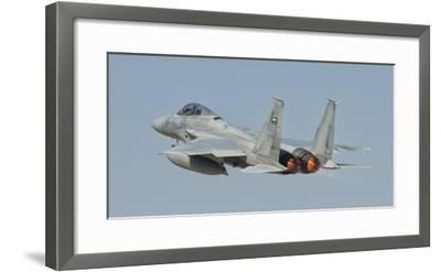 A Royal Saudi Air Force F-15 in Flight over Spain-Stocktrek Images-Framed Photographic Print