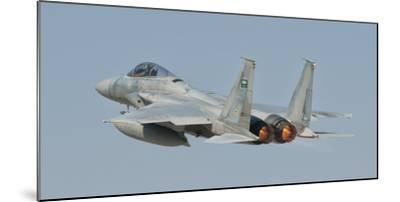 A Royal Saudi Air Force F-15 in Flight over Spain-Stocktrek Images-Mounted Photographic Print
