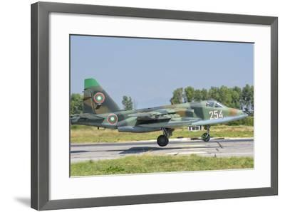 A Bulgarian Air Force Su-25 Jet During Exercise Thracian Star-Stocktrek Images-Framed Photographic Print