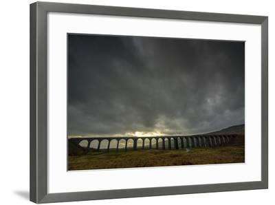 Ribblehead Viaduct, Sunset, Yorkshire Dales National Park, Yorkshire, England, United Kingdom-Bill Ward-Framed Photographic Print