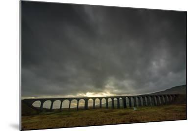 Ribblehead Viaduct, Sunset, Yorkshire Dales National Park, Yorkshire, England, United Kingdom-Bill Ward-Mounted Photographic Print