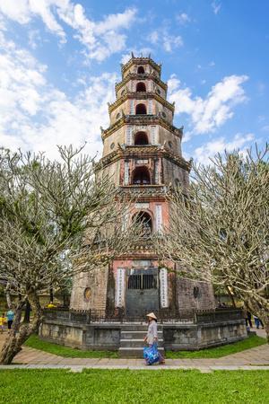 Thien Mu Pagoda (Chua Thien Mu), Hue, Thua Thien-Hue Province, Vietnam, Indochina, Southeast Asia-Jason Langley-Framed Photographic Print