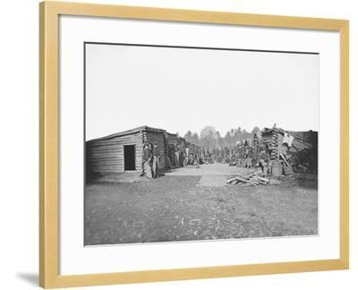 Infantry Winter Quarters During the American Civil War-Stocktrek Images-Framed Photographic Print