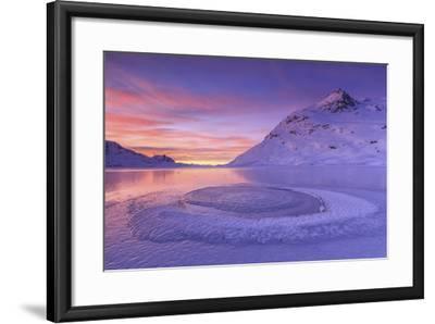 Lake Bianco at Bernina Pass. Canton of Graubunden. Engadine. Switzerland. Europe-ClickAlps-Framed Photographic Print