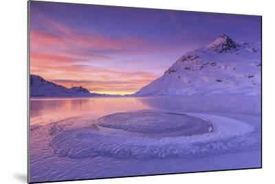 Lake Bianco at Bernina Pass. Canton of Graubunden. Engadine. Switzerland. Europe-ClickAlps-Mounted Photographic Print