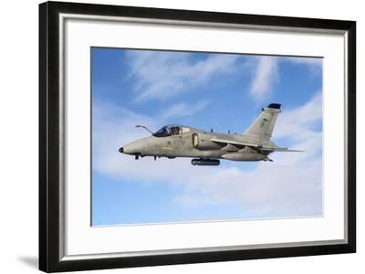 An Italian Air Force Amx During an Air-To-Air Refueling Operation-Stocktrek Images-Framed Photographic Print