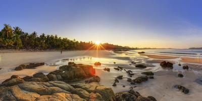 Myanmar (Burma), Rakhine State, Ngapali Beach-Michele Falzone-Photographic Print