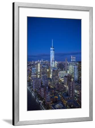 One World Trade Center and Lower Manhattan, New York City, New York, USA-Jon Arnold-Framed Photographic Print