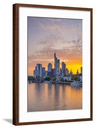 Germany, Hessen, Frankfurt Am Main, City Skyline across River Main-Alan Copson-Framed Photographic Print