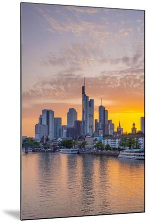 Germany, Hessen, Frankfurt Am Main, City Skyline across River Main-Alan Copson-Mounted Photographic Print