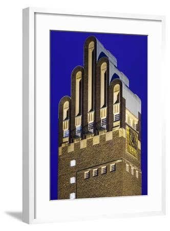 Germany, Hesse, Darmstadt, Mathildenhohe Kunstlerkolonie Park, Wedding Tower-Walter Bibikow-Framed Photographic Print
