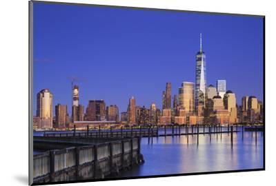 Usa, New York, New York City, Lower Manhattan Skyline from Newport Beach-Michele Falzone-Mounted Photographic Print