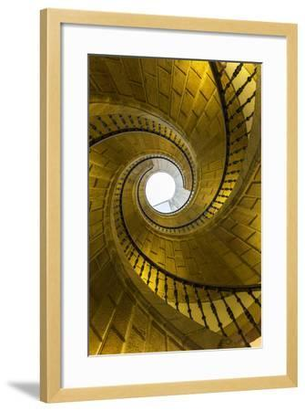 Triple Spiral Staircase of Floating Stairs. Convent of Santo Domingo De Bonaval-Peter Adams-Framed Photographic Print