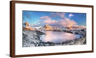 Reine, Lofoten Islands, Norway; Panoramic Photo of Reine-ClickAlps-Framed Photographic Print