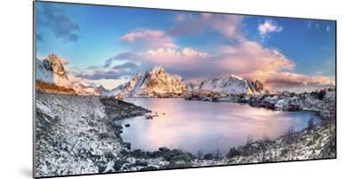 Reine, Lofoten Islands, Norway; Panoramic Photo of Reine-ClickAlps-Mounted Photographic Print